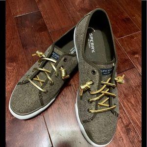 Sperry Glitter Canvas Sneaker